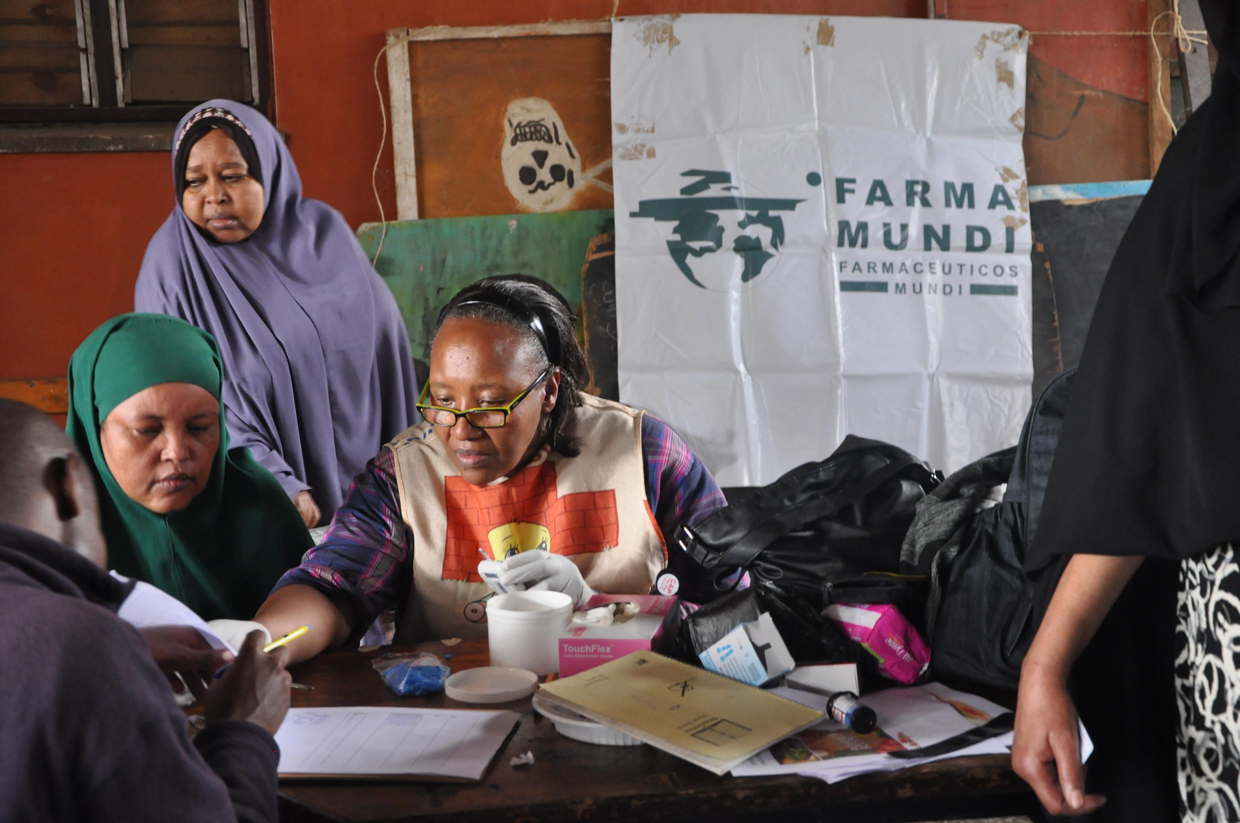 Atención médica a la población desplazada en Nairobi (Kenia).