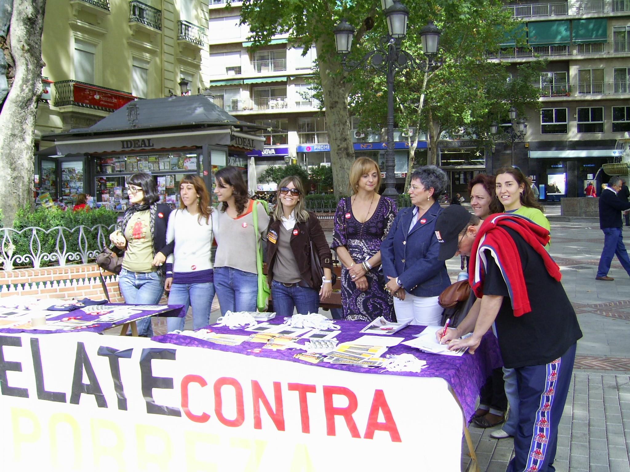 Acción de calle contra la pobreza