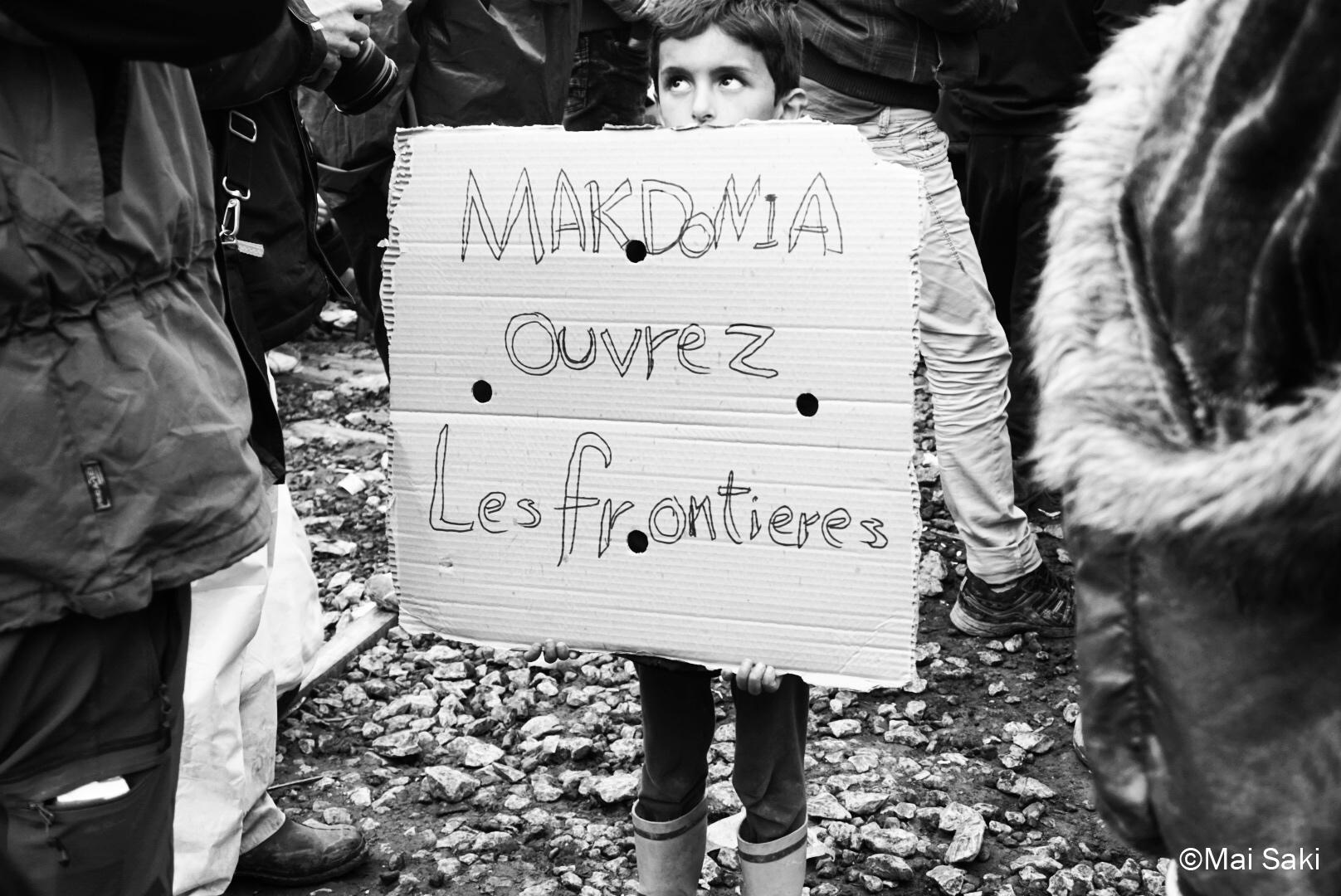 Idomeni, frontera Grecia con Macedonia marzo 2016- ©Mai Saki